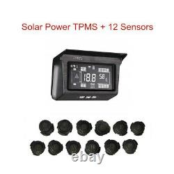 188Psi Solar TPMS Tire Pressure Monitor System Repeater 18 Sensor for Bus Truck
