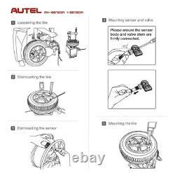 4PCS! Autel Programmable Universal TPMS Sensors OEM Replacement Metal Valve FORD