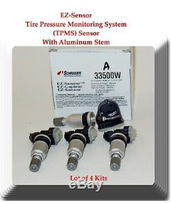 4 Kit TPMS Tire Pressure Monitoring System Sensor Fits Cadillac Chevrolet & GMC
