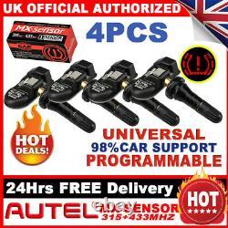 4 TPMS Tire Tyre Pressure Monitoring Sensors Autel MX Sensor 2in1 433Mhz+315Mhz