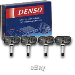 4 pc Denso TPMS Tire Pressure Sensors for Lexus GS350 2007-2011 Monitoring ah