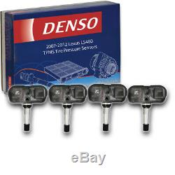 4 pc Denso TPMS Tire Pressure Sensors for Lexus LS460 2007-2012 Monitoring vl