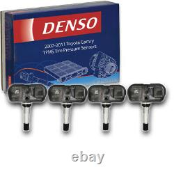 4 pc Denso Tire Pressure Monitoring System Sensors for 2007-2011 Toyota gm