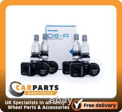 4 x BMW 1,2,3 Series TPMS Sensor. Programmed Tyre Pressure Monitor Sensor Silver