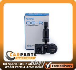 4 x BMW 4,5,6,7 Series TPMS Sensor Programmed Tyre Pressure Monitor Black
