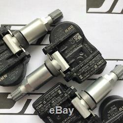 4x Genuine BMW TPMS 707355-10 Tyre Pressure Sensor Monitoring Valve Set 6855539