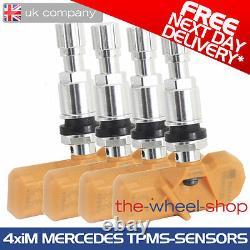 4x TPMS Sensors Tyre Pressure Monitoring Valves for Mercedes A Class iM Valves