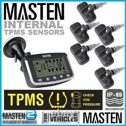 6 TPMS Tyre Pressure Monitoring System Caravan Truck 4WD RV Sensor LCD Wireless
