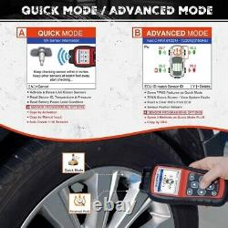 AUTEL TPMS Tool Kit Tire Pressure Monitoring System Diagnostic Reset with4 Sensors