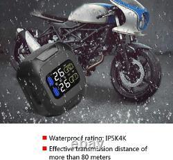 Bediffer Universal Motorcycle Wireless TPMS Sensor Tire Pressure Monitor System