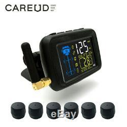 CAREUD Car TPMS Tire Pressure Monitor System + 6 External Sensor For Truck Van