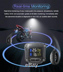 CAREUD M3-B Motorcycle TPMS Tire Pressure Monitoring System + 2 External Sensors