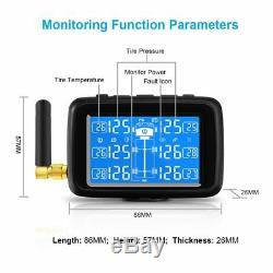 CAREUD U901T Wireless Tire Pressure Monitoring System TPMS 6 Ext Senor for Truck