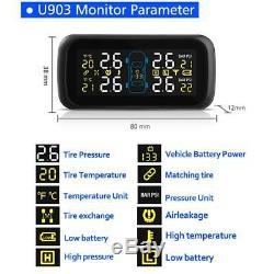 Car Wireless TPMS Tire Tyre Pressure Monitoring System + 4 External Sensors