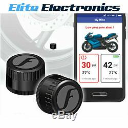 FOBO BIKE 2 BLACK BLUETOOTH 5 DIY TYRE PRESSURE MONITOR SYSTEM TPMS iOS ANDROID