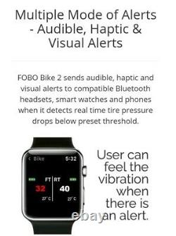 FOBO BIKE 2 Black BLUETOOTH 5 TYRE PRESSURE MONITOR SYSTEM TPMS iOS ANDROID