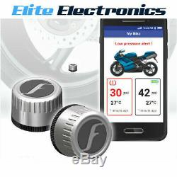FOBO BIKE 2 SILVER BLUETOOTH 5 DIY TYRE PRESSURE MONITOR SYSTEM TPMS iOS ANDROID