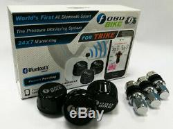 FOBO Bike Trike Tire Pressure Monitoring Systems iOS/Android Bluetooth Black