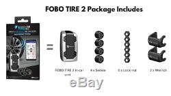 FOBO Car Tire 2 Pressure Monitoring Systems iOS/Android Bluetooth 5.0 Silver