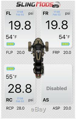 Fobo Electronic Tire Pressure Monitoring System for the Can-Am Ryker (Set of 3)
