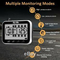 GUTA Tire Pressure Monitoring System-10 External Sensor (0-188 PSI) tpms, 7 Alar