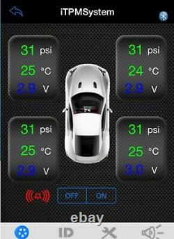 Masten TPMS Tyre Tire Pressure Monitor System Car Motorcycle for Android iOS