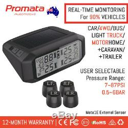 PROMATA 4x4 TPMS External Solar Tyre Pressure Monitoring System Wireless Mata1