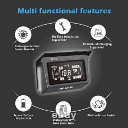 Real time TPMS Solar Tyre Pressure Monitor System for Truck RV Trailer 10 Sensor