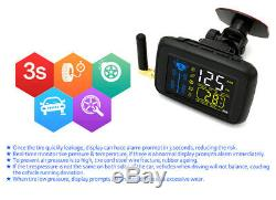 SYKIK-TPMS 4 wheel Real Time Tire Pressure Monitoring System for, RVs &Trucks(4)