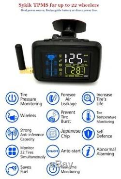 SYKIK-TPMS 6 wheel Real Time Tire Pressure Monitoring System for, RVs &Trucks(6)