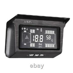 Solar Power TPMS Tyre Pressure Monitor System 10 Sensor & Repeater For Truck Bus