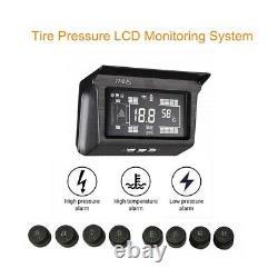 Solar Power TPMS Tyre Pressure Monitor System 8 Sensor & Repeater For Van Truck