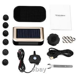 Solar Power TPMS Wireless Tire Pressure Monitoring System +6 Sensors LCD For RV
