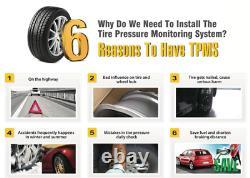 Solar TPMS 8 wheel RealTime Tire Pressure Monitoring System for Truck Caravan RV