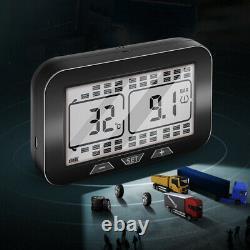 Solar TPMS LCD Tire Pressure Monitoring System Fits Truck + 12 External Sensors