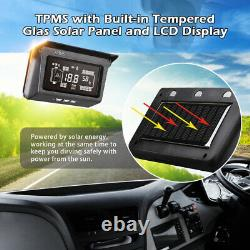 Solar Wireless Truck TPMS Tire Tyre Pressure Monitor System with8 External Sensor