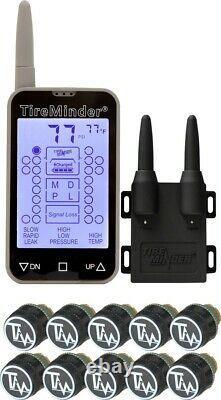 TIRE MINDER TM-77-10 Tire Pressure Monitoring System 10-SENSORS FREE SHIPPING