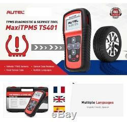 TPMS Relearn Tool Auto Tire Tyre Pressure Sensor Activation OBD EOBD Autel TS401