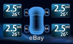 -TPMS Tire Pressure Monitor System 6 External Cap 22 Tyre Sensors DVD Naviga Car