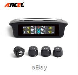 TPMS Tyre Pressure Guage Medidor Pressao Pneus Air Pressure Tire Meter Solar