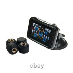 TPMS Tyre Pressure Monitoring System Wireless LCD External Sensors x 4 Trailer