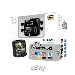 TYREDOG TPMS + DVR Wireless Tire Pressure Monitoring System TPMS Fast Shipping