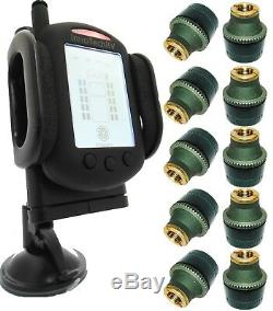 Tire Pressure Monitoring System for Truck or RV TPMS 10 Sensors plus Booster