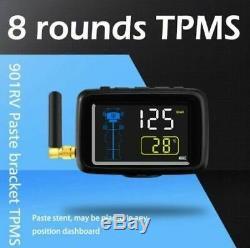 Tpms 8 Sensors Tyre Pressure & Temperature Monitoring System For Caravan / Truck