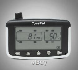 TyrePal TC215/B Tyre Pressure Monitoring System TPMS with 8 Sensors for Caravans