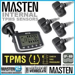 Tyre Pressure Monitoring System Internal Valve Sensor x 4 LCD 4WD Wireless Truc