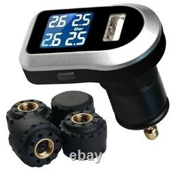 Tyre Pressure Monitoring System LCD TPMS 4 External Tire Sensors Wireless Cars