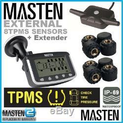 Tyre Pressure Monitoring System TPMS External Cap Sensors Rubber Seals x 8 4wd