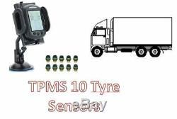 Tyre Pressure Monitoring System for CAR & CARAVAN 10 tyre sensors