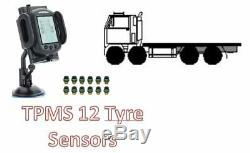 Tyre Pressure Monitoring System for TRUCK 12 tyre sensors